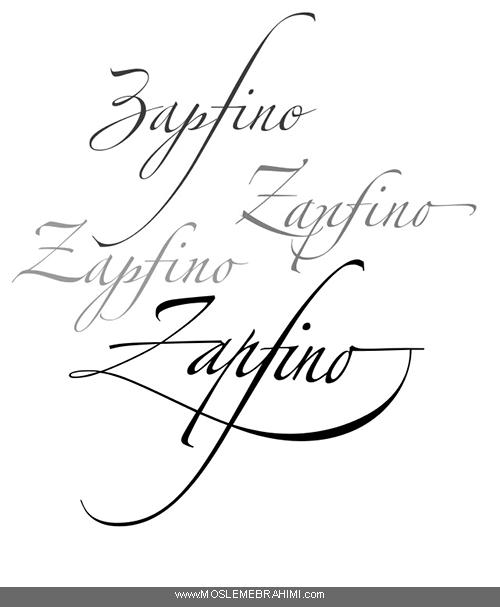 فونت خوشنویسی زاپفینو